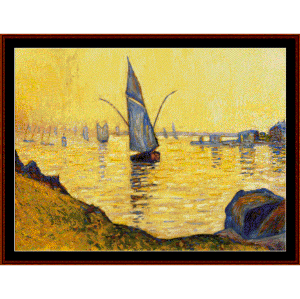 Concarneau Study - Signac cross stitch pattern by Cross Stitch Collectibles | Crafting | Cross-Stitch | Wall Hangings