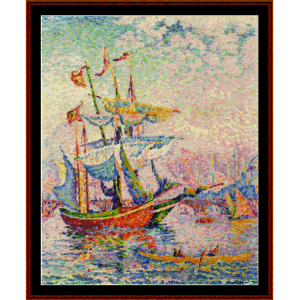 Le Corne D'or Lepont - Signac cross stitch pattern by Cross Stitch Collectibles | Crafting | Cross-Stitch | Wall Hangings