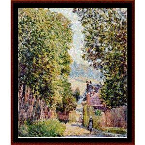 Street in Louveciennes - Sisley cross stitch pattern by Cross Stitch Collectibles | Crafting | Cross-Stitch | Other