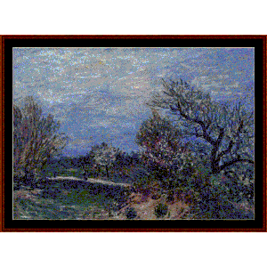 Border of the Woods - Sisley cross stitch pattern by Cross Stitch Collectibles | Crafting | Cross-Stitch | Wall Hangings