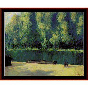 By the Loing - Sisley cross stitch pattern by Cross Stitch Collectibles | Crafting | Cross-Stitch | Wall Hangings
