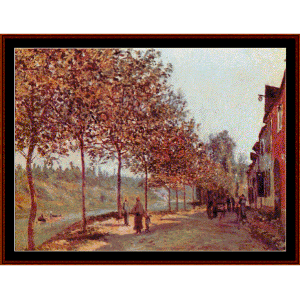 Morning in June - Sisley cross stitch pattern by Cross Stitch Collectibles | Crafting | Cross-Stitch | Wall Hangings