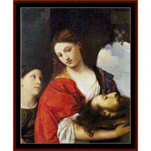 Judith w/Head of Holofernes - Titian cross stitch pattern by Cross Stitch Collectibles | Crafting | Cross-Stitch | Other