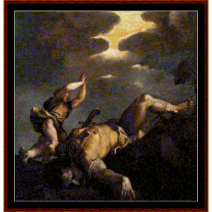 David & Goliath - Titian cross stitch pattern by Cross Stitch Collectibles | Crafting | Cross-Stitch | Wall Hangings
