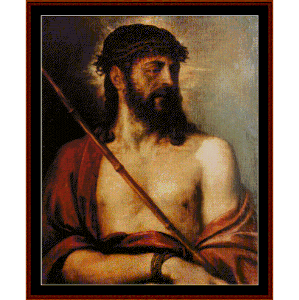 Ecce Homo - Titian cross stitch pattern by Cross Stitch Collectibles | Crafting | Cross-Stitch | Religious