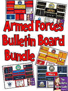Armed Forces Bulletin Board Bundle | Other Files | Everything Else