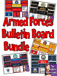 Armed Forces Bulletin Board Bundle | Other Files | Everything Else