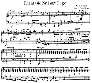 Fantasia and Fugue No.1, K. 394.in C Major. W.A. Mozart. Ed. Breitkopf Urtext (Unedited), Kalmus Reprint. | eBooks | Sheet Music