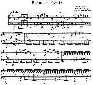 Fantasia No.4, K.475. in C minor. W.A. Mozart. Ed. Breitkopf Urtext (Unedited), Kalmus Reprint. | eBooks | Sheet Music