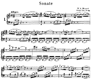 Sonata No.1, K.279 in C Major. W.A. Mozart. Ed. Breitkopf Urtext (Unedited), Kalmus Reprint | eBooks | Sheet Music
