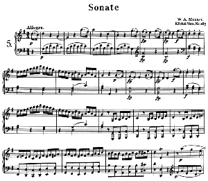 Sonata No.5, K.283 in G Major. W.A. Mozart. Ed. Breitkopf Urtext (Unedited), Kalmus Reprint. | eBooks | Sheet Music