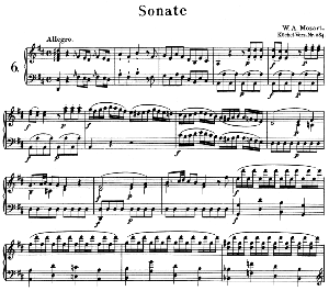Sonata No.6, K.284 in D Major. W.A. Mozart. Ed. Breitkopf Urtext (Unedited), Kalmus Reprint. | eBooks | Sheet Music