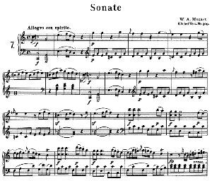 Sonata No.7, K.309 in C Major. W.A. Mozart. Ed. Breitkopf Urtext (Unedited), Kalmus Reprint. | eBooks | Sheet Music