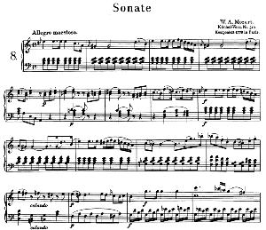 Sonata No.8, K.310 in A minor. W.A. Mozart. Ed. Breitkopf Urtext (Unedited), Kalmus Reprint. | eBooks | Sheet Music