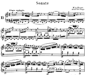 Sonata No.10, K.330 in C Major. W.A. Mozart. Ed. Breitkopf Urtext (Unedited), Kalmus Reprint. | eBooks | Sheet Music