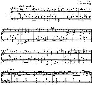 Sonata No.11, K.331 in A Major. W.A. Mozart. Ed. Breitkopf Urtext (Unedited), Kalmus Reprint. | eBooks | Sheet Music