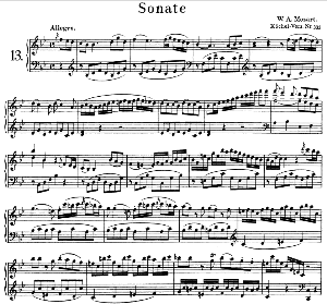 Sonata No.13, K.333 in B-Flat Major. W.A. Mozart. Ed. Breitkopf Urtext (Unedited), Kalmus Reprint. | eBooks | Sheet Music