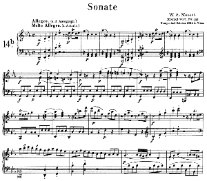 Sonata No.14, K.467 in C minor. W.A. Mozart. Ed. Breitkopf Urtext (Unedited), Kalmus Reprint. | eBooks | Sheet Music
