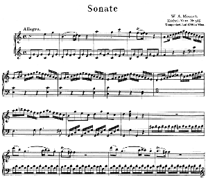Sonata No.16, K.545 in C Major. W.A. Mozart. Ed. Breitkopf Urtext (Unedited), Kalmus Reprint. | eBooks | Sheet Music