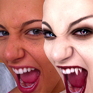 a vampire in photoshop cc