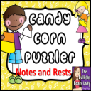 Candy Corn Notes and Rests Puzzles | Other Files | Everything Else