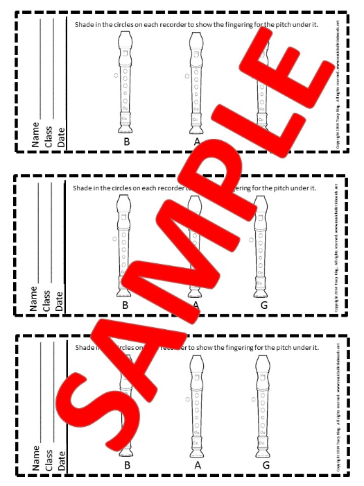 First Additional product image for - Recorder Exit Tickets