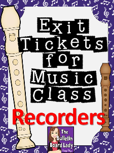 Recorder Exit Tickets | Other Files | Everything Else