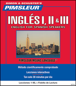 pimsleur english for spanish speakers i ii iii \