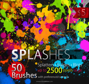 50 HQ Splatter Brushes for Photoshop | Software | Design Templates