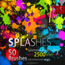 50 HQ Splatter Brushes for Photoshop | Software | Add-Ons and Plug-ins