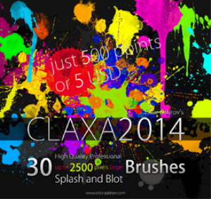 30 hq pro splatter brushes for photoshop