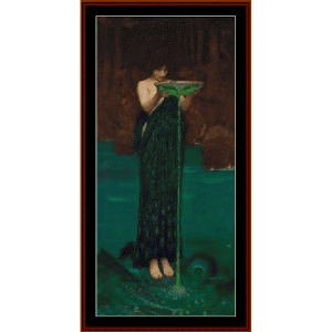 Circe Indiviosa, 1892 - Waterhouse cross stitch pattern by Cross Stitch Collectibles | Crafting | Cross-Stitch | Wall Hangings