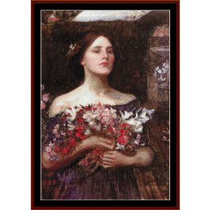 Ophelia, 1908 - Waterhouse cross stitch pattern by Cross Stitch Collectibles | Crafting | Cross-Stitch | Other