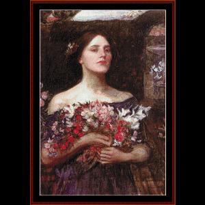 Ophelia, 1908 - Waterhouse cross stitch pattern by Cross Stitch Collectibles | Crafting | Cross-Stitch | Other