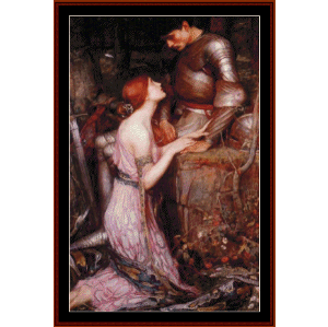 Lamia and the Solder - Waterhouse cross stitch pattern by Cross Stitch Collectibles | Crafting | Cross-Stitch | Wall Hangings