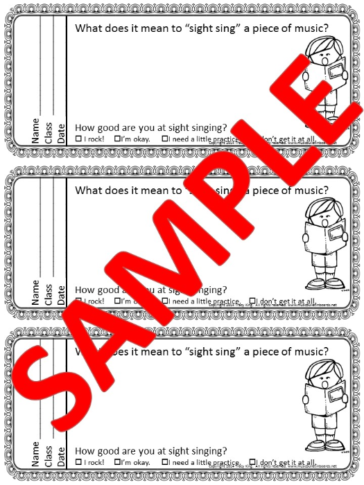 Second Additional product image for - Singing/Choir Exit Tickets
