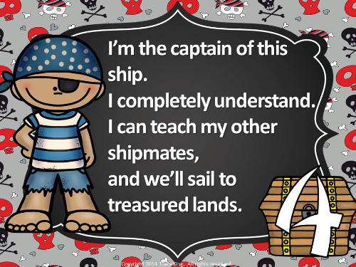 First Additional product image for - Pirates Proficiency Scale-Let's Set Sail