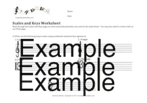 Scales and Keys Worksheet | Music | Children