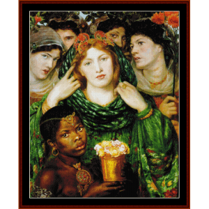 The Beloved - Dante Rossetti cross stitch pattern by Cross Stitch Collectibles | Crafting | Cross-Stitch | Wall Hangings