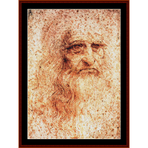 Self Portrait (DaVinci) cross stitch pattern by Cross Stitch Collectibles | Crafting | Cross-Stitch | Wall Hangings