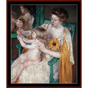 mother and child - cassatt cross stitch pattern by cross stitch collectibles
