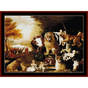 Peaceable Kingdom - Edward Hicks cross stitch pattern by Cross Stitch Collectibles | Crafting | Cross-Stitch | Wall Hangings