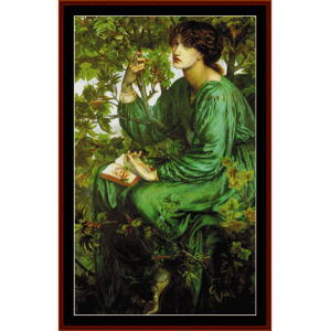 Day Dreamer - Dante Rossetti cross stitch pattern by Cross Stitch Collectibles | Crafting | Cross-Stitch | Wall Hangings