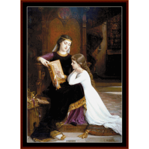 long ago - emile munier cross stitch pattern by cross stitch collectibles