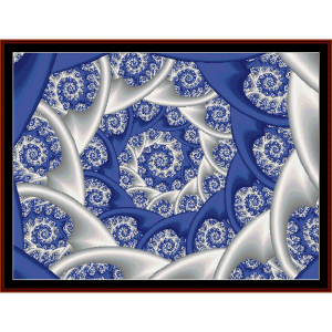 fractal 76 cross stitch pattern by cross stitch collectibles