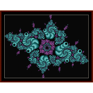 Fractal 102 cross stitch pattern by Cross Stitch Collectibles | Crafting | Cross-Stitch | Wall Hangings