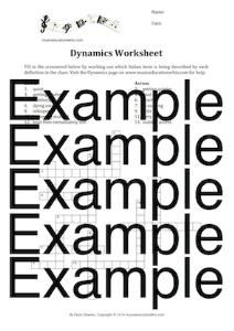 dynamics crossword worksheet