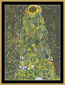 The Sunflower - Klimt | Crafting | Cross-Stitch | Wall Hangings