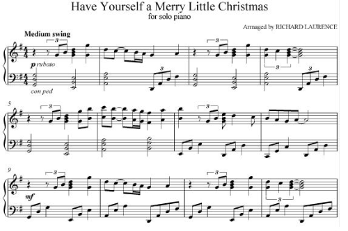 First Additional product image for - Have youself a merry little christmas solo piano