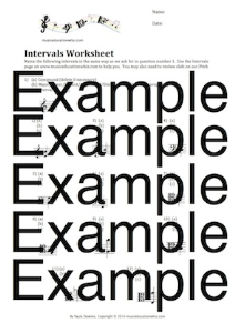 Intervals Worksheet | Music | Children